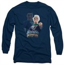 SuperMansion Long Sleeve Shirt Titanium Rex Navy Blue Tee T-Shirt