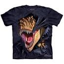 T-Rex Kids Shirt Tie Dye Dinosaur Tearing T-shirt Tee Youth