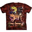 T-Rex Shirt Tie Dye Rex Dinosaurs Collage T-shirt Adult Tee