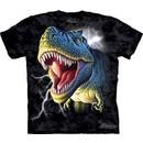 T-Rex Shirt Tie Dye T-shirt Lightning Dinosaurs Adult Tee