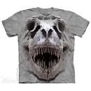 T-Rex Skull Shirt Tie Dye Adult T-Shirt Tee