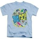 Teen Titans Go Shirt Kids GO! Light Blue T-Shirt