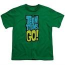 Teen Titans Go Shirt Kids Logo Kelly Green T-Shirt