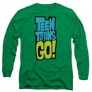 Teen Titans Go Shirt Logo Long Sleeve Kelly Green Tee T-Shirt