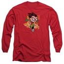 Teen Titans Go Shirt Robin Long Sleeve Red Tee T-Shirt