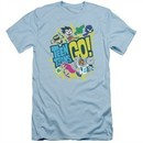 Teen Titans Go Shirt Slim Fit GO! Light Blue T-Shirt