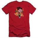 Teen Titans Go Shirt Slim Fit Robin Red T-Shirt
