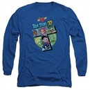 Teen Titans Go Shirt T Long Sleeve Royal Blue Tee T-Shirt