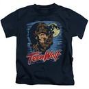 Teen Wolf Kids Shirt Moon Wolf Navy Tee T-Shirt