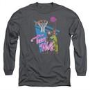 Teen Wolf Long Sleeve Shirt Slam Dunk Charcoal Tee T-Shirt