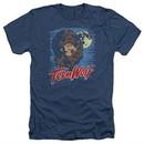 Teen Wolf Shirt Moon Wolf Heather Navy Tee T-Shirt