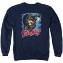 Teen Wolf Sweatshirt Moon Wolf Adult Navy Sweat Shirt