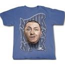 Three Stooges T-shirt Curly NYUK NYUK NYUK Adult Funny Blue Tee Shirt