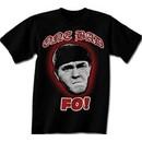 Three Stooges T-shirt Moe One Bad Mo Fo Adult Funny Black Tee Shirt