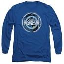 The Amazing Race Long Sleeve Shirt Around The World Royal Blue Tee T-Shirt