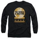 The Amazing Race Long Sleeve Shirt Waiting World Black Tee T-Shirt