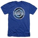 The Amazing Race Shirt Around The World Heather Royal Blue T-Shirt