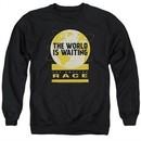 The Amazing Race Sweatshirt Waiting World Adult Black Sweat Shirt