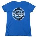 The Amazing Race Womens Shirt Around The World Royal Blue T-Shirt