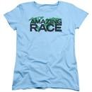 The Amazing Race Womens Shirt World Light Blue T-Shirt