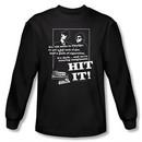 The Blues Brothers Long Sleeve T-shirt Movie Hit It Black Tee Shirt