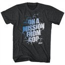 The Blues Brothers Shirt Mission From God Black Heather T-Shirt