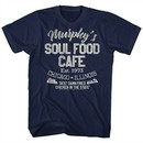 The Blues Brothers Shirt Soul Food Caf Navy Blue T-Shirt