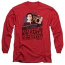 The Goldbergs Long Sleeve Shirt Big Tasty Red Tee T-Shirt