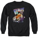 The Goldbergs Sweatshirt Totally Rad Family Adult Black Sweat Shirt