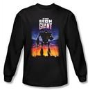The Iron Giant Long Sleeve T-Shirt Movie Robot Poster Black Shirt