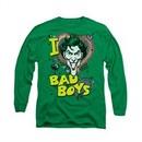 The Joker Shirt Bad Boys Long Sleeve Kelly Green Tee T-Shirt