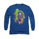 The Joker Shirt Raw Deal Long Sleeve Royal Blue Tee T-Shirt
