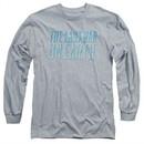 The Last Man On Earth Long Sleeve Shirt Logo Athletic Heather Tee T-Shirt
