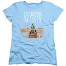 The Last Man On Earth Womens Shirt Phil On Chair Light Blue T-Shirt
