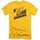 The Shining  Slim Fit Shirt Movie Poster Yellow T-Shirt
