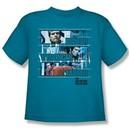 The Six Million Dollar Man Shirt Kids Better Stronger Turquoise Youth Tee