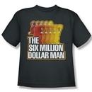 The Six Million Dollar Man Shirt Kids Run Fast Charcoal Youth Tee T-Shirt