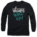 The Vamps Long Sleeve Shirt Wake Up Black Tee T-Shirt