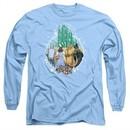 The Wizard Of Oz  Long Sleeve Shirt Emerald City Carolina Blue Tee T-Shirt