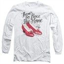 The Wizard Of Oz  Long Sleeve Shirt Red Ruby Slippers White Tee T-Shirt