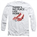 The Wizard Of Oz  Long Sleeve Shirt There's No Place Like Home White Tee T-Shirt