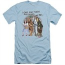 The Wizard Of Oz  Slim Fit Shirt Lions and Tigers and Bears Oh My! Light Blue T-Shirt