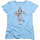 The Wizard Of Oz  Womens Shirt Over The Rainbow Light Blue T-Shirt