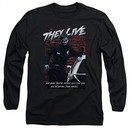 They Live  Long Sleeve Shirt Dead Wrong Black Tee T-Shirt