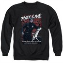 They Live  Sweatshirt Dead Wrong Adult Black Sweat Shirt