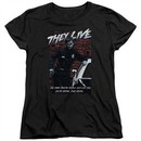 They Live  Womens Shirt Dead Wrong Black T-Shirt