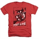 They Live Shirt Graphic Poster Heather Red T-Shirt