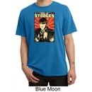 Three Stooges Pigment Dyed T-shirt Viva La Stooges Big Moe Adult Tee