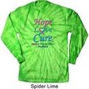 Thyroid Cancer Hope Love Cure Long Sleeve Tie Dye Shirt