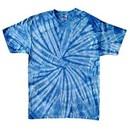 Tie Dye T-shirt Spider Baby Blue Retro Vintage Groovy Adult Tee Shirt